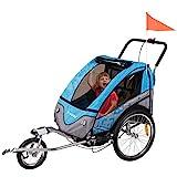 FROGGY Kinder Fahrradanhänger 360° Drehbar mit...